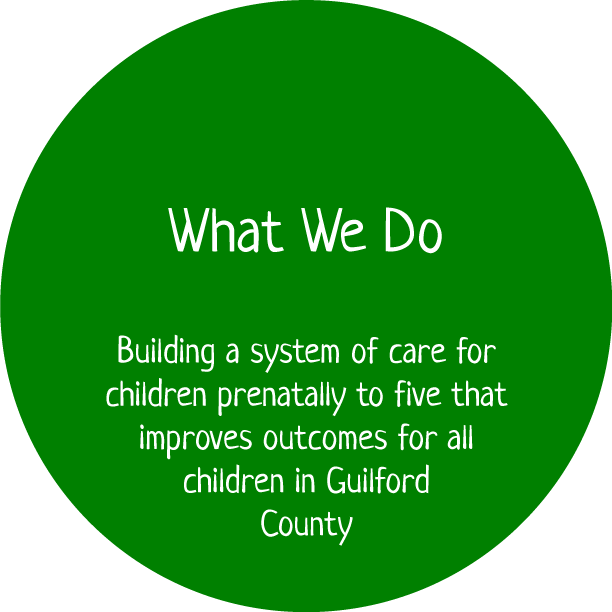 Building a system of care for children prenatally to five that improves outcomes for all children in Guilford County