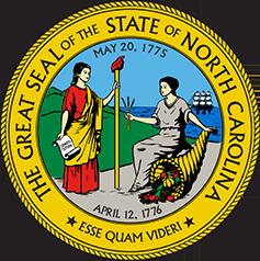 North Carolina state seal.