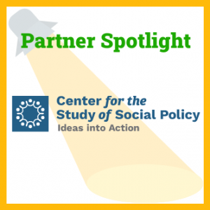 Photo of a spotlight with the CSSP logo