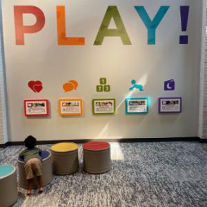 Child plays inside Greensboro Children's Museum