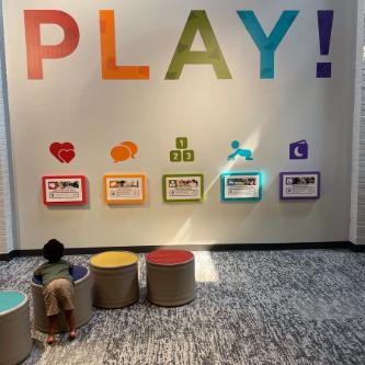 The Basics Enhance Tot Spot at Greensboro Children's Museum